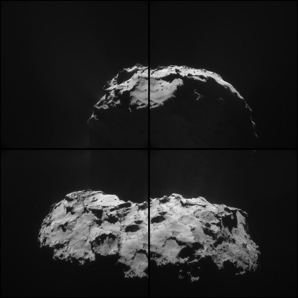 ESA_Rosetta_NavCam_20150203_FourFrameMontage