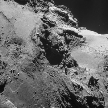 Processed version of the 21 October single frame NAVCAM image. Credits: ESA/Rosetta/NAVCAM – CC BY-SA IGO 3.0