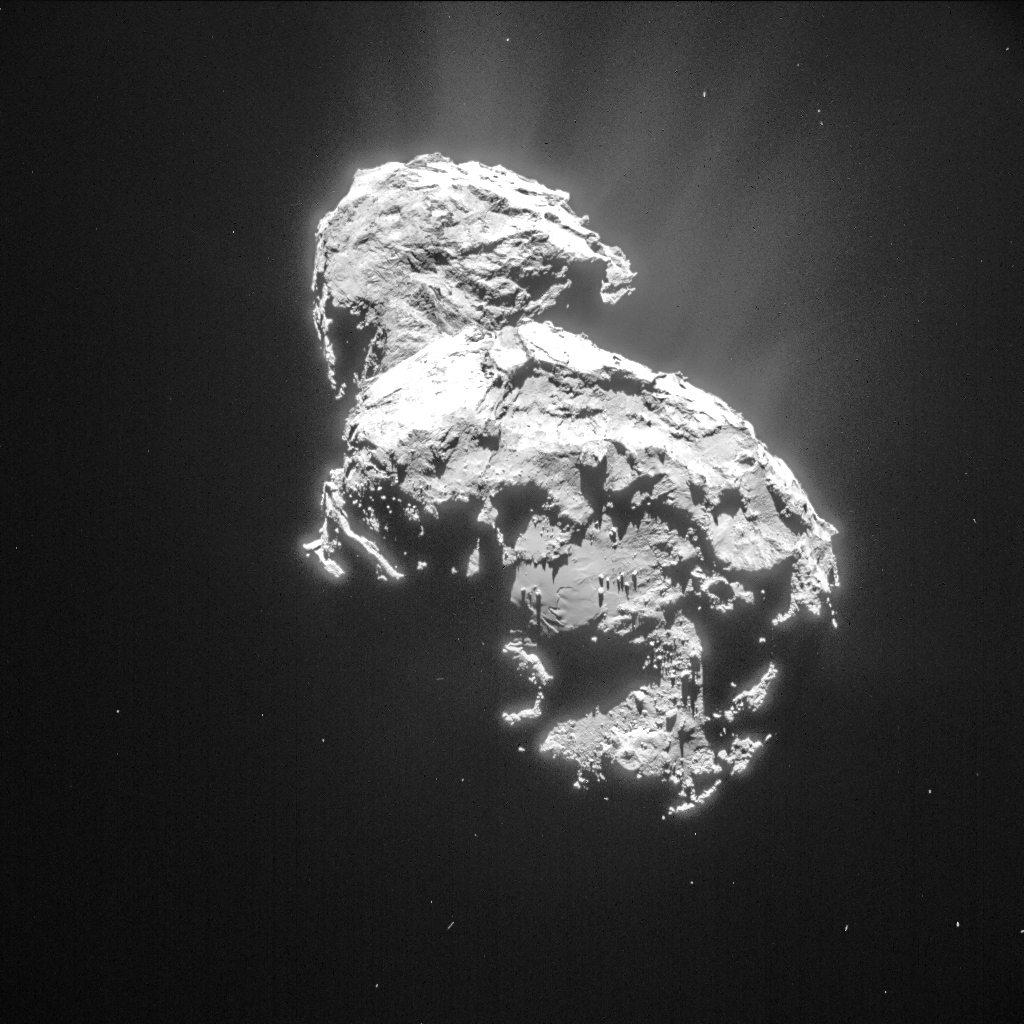 Single frame NAVCAM image of Comet 67P/C-G taken 6 March from a distance of 82.9 km to the comet centre. Credits: ESA/Rosetta/NAVCAM – CC BY-SA IGO 3.0