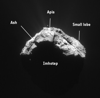 Cometwatch 15 April in context. Credits: ESA/Rosetta/NAVCAM – CC BY-SA IGO 3.0