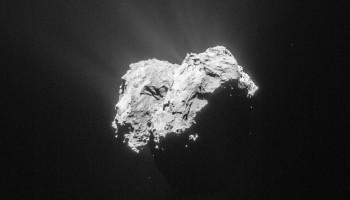 Comet 67P/C-G on 18 April 2015 from a distance of 101 km. Credits: ESA/Rosetta/NAVCAM – CC BY-SA IGO 3.0