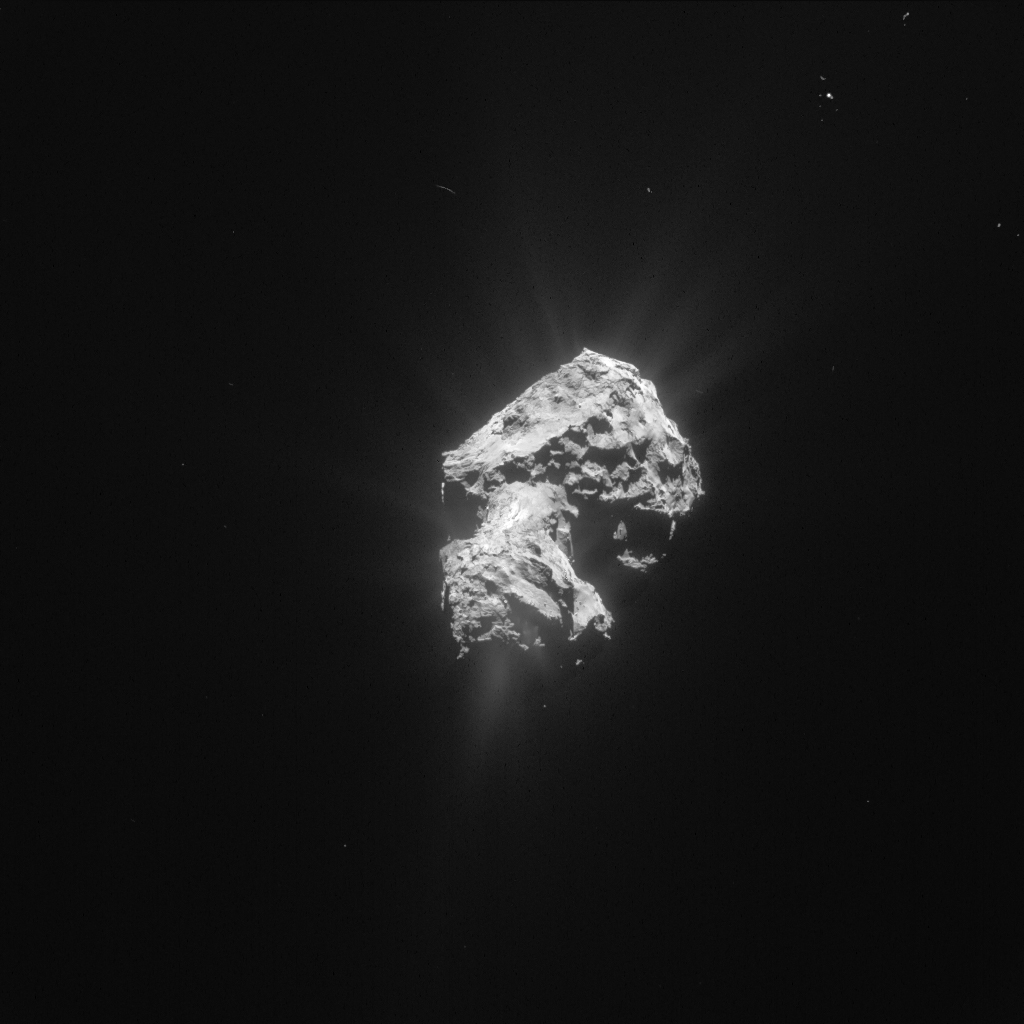 Processed image of Comet 67P/C-G taken by Rosetta's NAVCAM on 20 May 2015. Credits: ESA/Rosetta/NavCam – CC BY-SA IGO 3.0