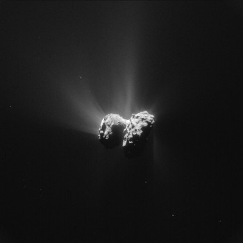 Processed NAVCAM image of Comet 67P/C-G taken on 15 June 2015. Credits: ESA/Rosetta/NAVCAM – CC BY-SA IGO 3.0
