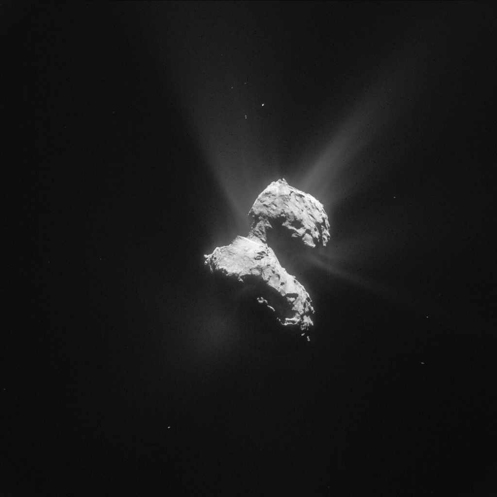 Processed image of Comet 67P/C-G taken by Rosetta's NAVCAM on 21 May 2015. Credits: ESA/Rosetta/NAVCAM – CC BY-SA IGO 3.0