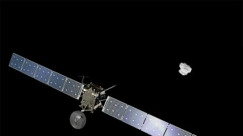 Rosetta approaching comet 67P/C-G from afar.
