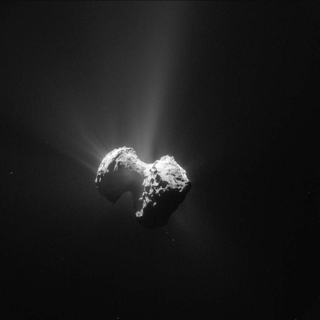 Comet 67P/C-G on 20 July 2015. Credits: ESA/Rosetta/NAVCAM – CC BY-SA IGO 3.0