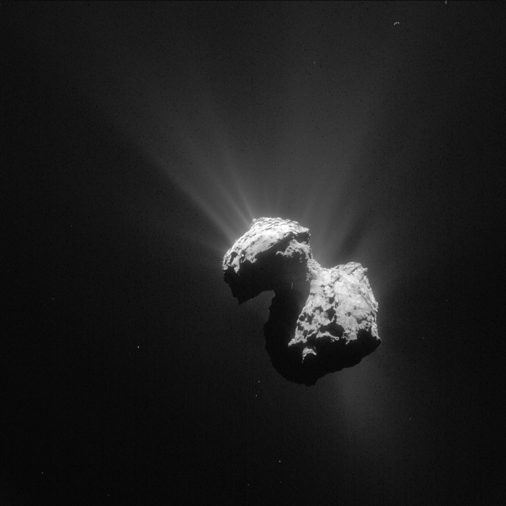 Comet 67P/C-G on 7 July 2015. Credits: ESA/Rosetta/NAVCAM – CC BY-SA IGO 3.0