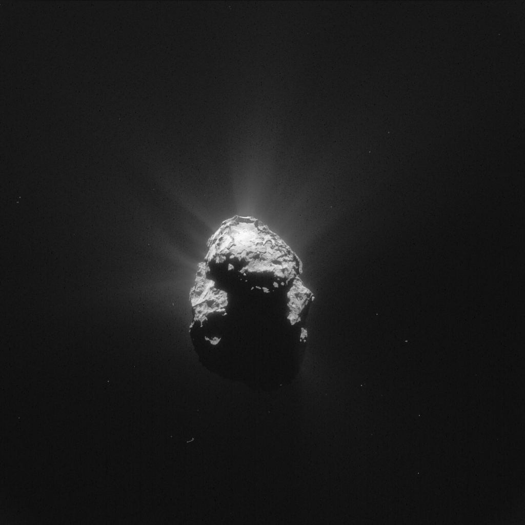 NAVCAM image of Comet 67P/C-G taken on 25 June 2015, 168 km from the comet centre. Credits: ESA/Rosetta/NAVCAM – CC BY-SA IGO 3.0