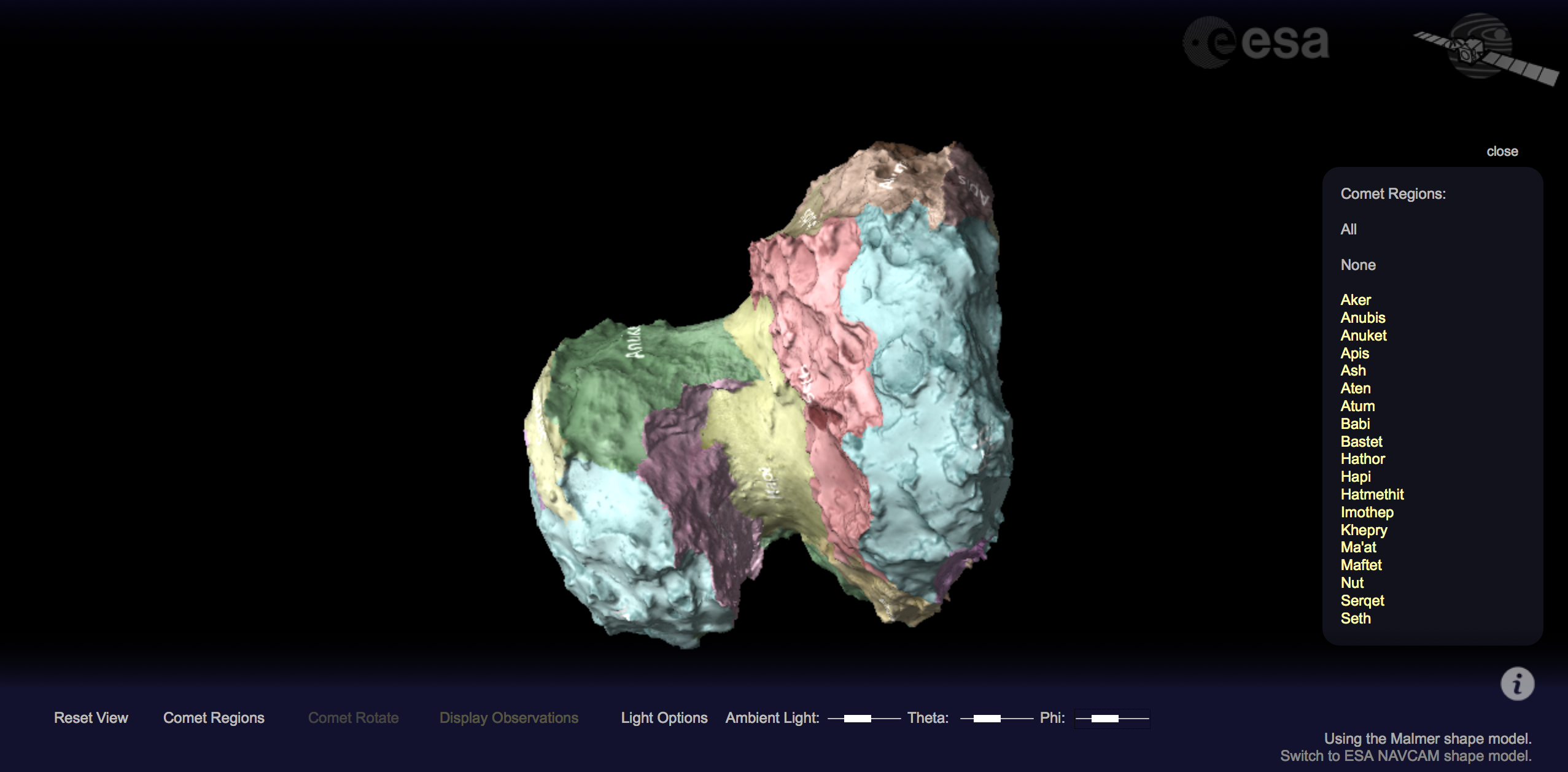 New interactive viewer for comet 67pc g rosetta esas comet cometviewerscreenshot sciox Images