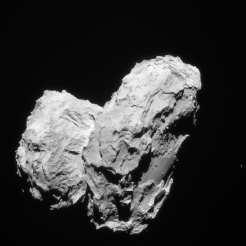 The distinctive shape of Comet 67P/C-G. Credits: ESA/Rosetta/Navcam – CC BY-SA IGO 3.0