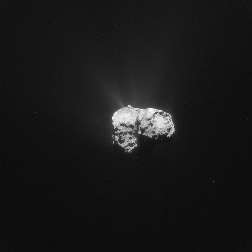 Single frame enhanced NAVCAM image of Comet 67P/C-G taken on 12 November 2015. Credits: ESA/Rosetta/NAVCAM – CC BY-SA IGO 3.0