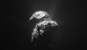 Single frame enhanced NAVCAM image of Comet 67P/C-G taken on 22 November 2015. Credits: ESA/Rosetta/NAVCAM – CC BY-SA IGO 3.0