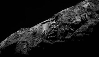 Rosetta's view of Comet 67P/C-G on New Year's Eve. Credit: ESA/Rosetta/MPS for OSIRIS Team MPS/UPD/LAM/IAA/SSO/INTA/UPM/DASP/IDA