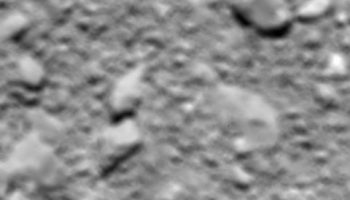 Rosetta's last image, taken 20 m from the surface of the comet. ESA/Rosetta/MPS for OSIRIS Team MPS/UPD/LAM/IAA/SSO/INTA/UPM/DASP/IDA