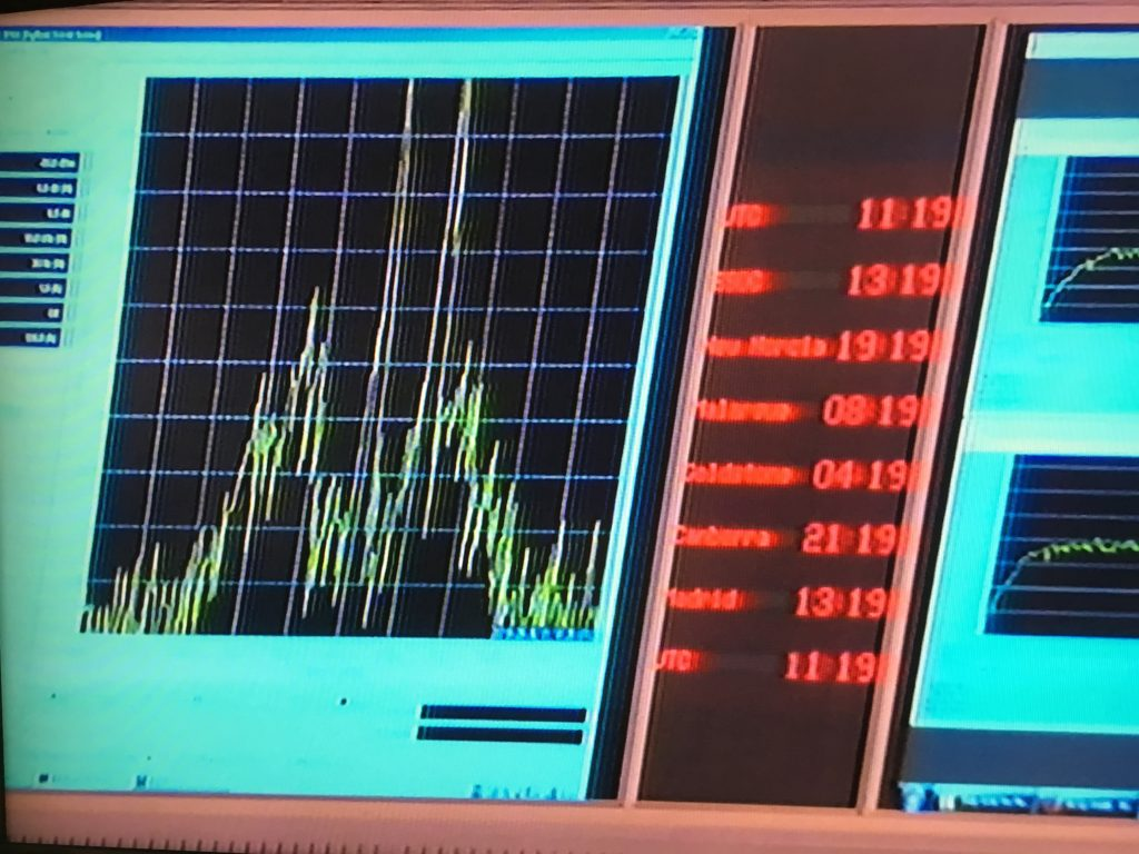 Rosetta's radio signal starts to fade... Credit: ESA