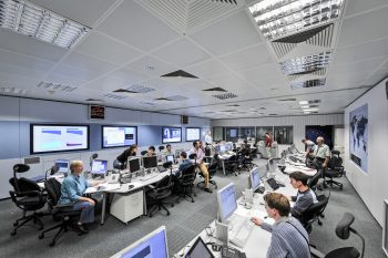 Flight dynamics team at ESOC. Credit: ESA/J. Mai