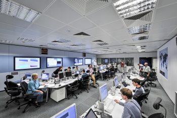 Flight dynamics team at ESOC. Credit: ESA/J. Mai
