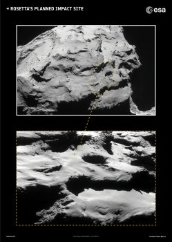 Rosetta's planned impact site, within a ~700 x 500 m ellipse. Click for high res and full caption and credit info.