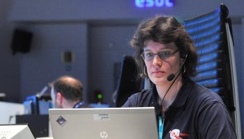 Spacecraft Operations Engineer Armelle Hubault, Rosetta Flight Control Tea, ESA/ESOC. Credit: ESA
