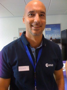 Luca Parmitano at ESOC in 2009 Credit: A. Schepers