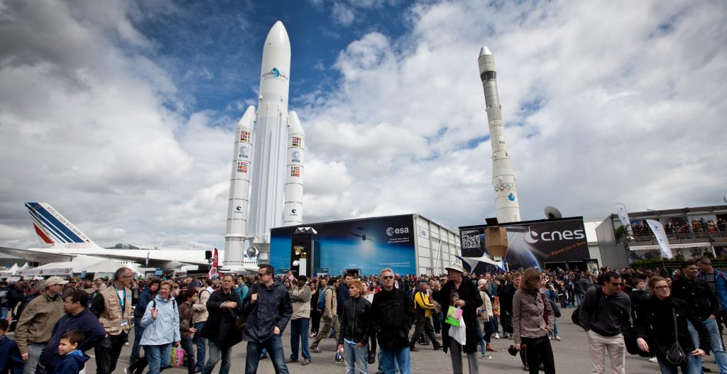 The ESA Pavilion at the Paris Air and Space Show 2015. Image: ESA. S. Angelstein.