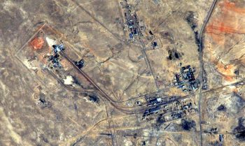 Baikonur seen from the International Space Station. Credits: ESA/NASA
