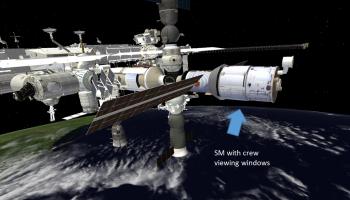 Zvezda Service Module with crew viewing capabilities