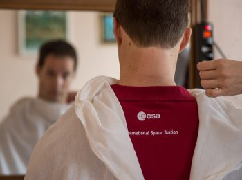 Last haircut for Thomas. Credits: NASA–B. Ingalls