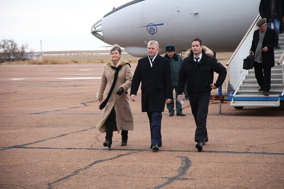 Arrival in Baikonur. Credits: Roscosmos