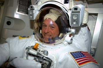 Shane Kimbrough testing his spacesuit on the International Space Station. Credits: ESA/NASA