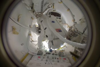 In the airlock. Credits: ESA/NASA