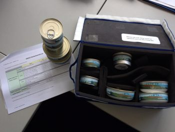 Cans of space food for ESA astronaut Alexander Gerst's ENERGY sessions. Credits: ESA