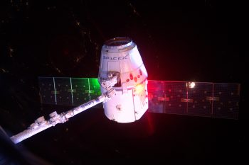 Dragon departure. Credits: ESA/NASA
