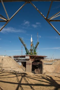Soyuz MS-04 getting ready for launch in Baikonur. Credits: NASA–A. Gemignani
