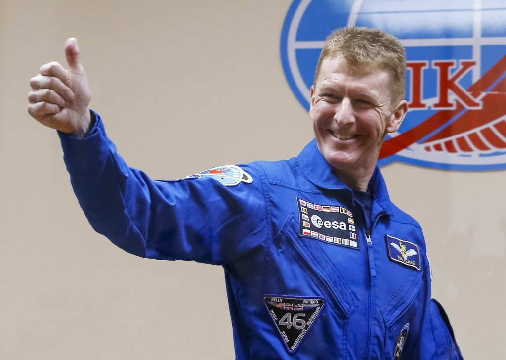 Tim Peake before launch. Credits: ESA