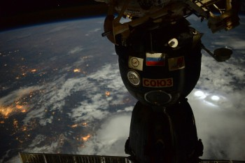 Soyuz spacecraft and 'lifeboat' docked to the Space Station. Credits: ESA/NASA