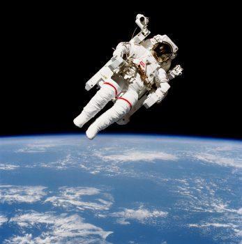 Bruce McCandless spacewalk. Credits: NASA