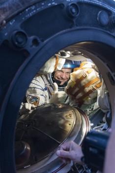 ESA astronaut Andreas Mogensen smiliing after landing on Earth, September 2015. Credits: ESA