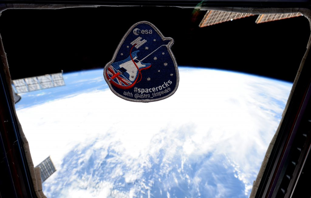The real thing. #spacerocks patch in space. Credits: ESA/NASA
