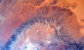 Abstract landscape art in Africa. Credits: ESA/NASA