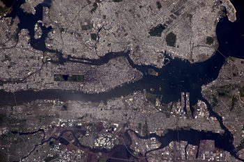 New York through telephoto lens. Credits: ESA/NASA
