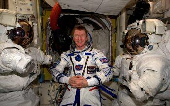 Tim in Sokol suit. Credits: ESA/NASA