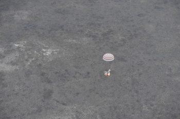 Soyuz TMA-16M landing September 2015. Credits: ESA