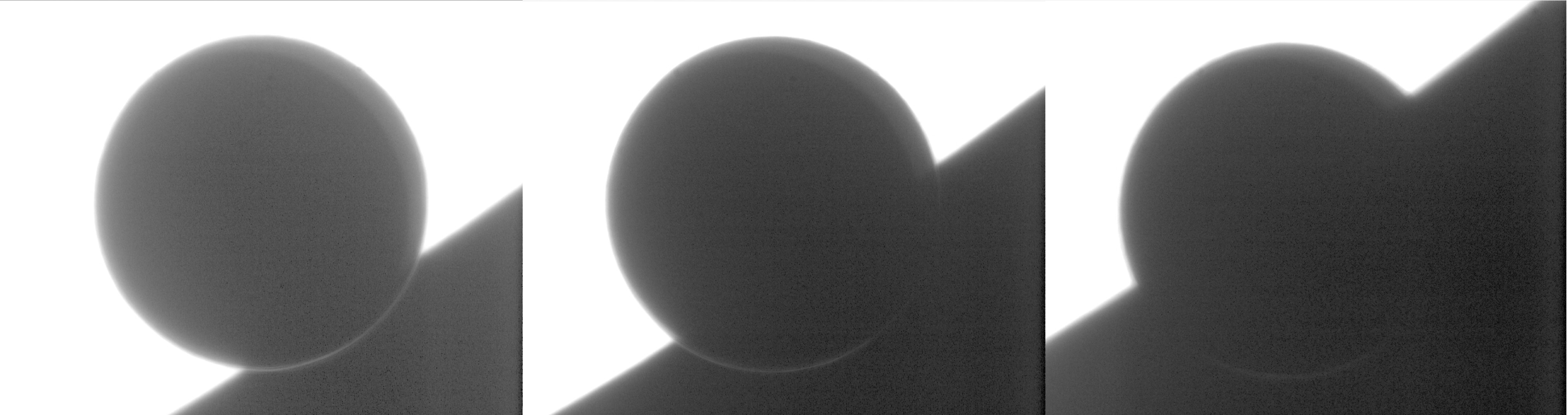 Image showing the aureole observed during the 2004 egress of Venus with the Dutch Open Telescope in La Palma - Credit: Tanga et al. 2012