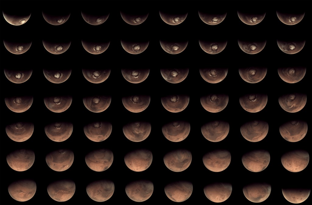 56 views of Mars from the Mars Webcam in 2012 Credit: E. Lakdawalla