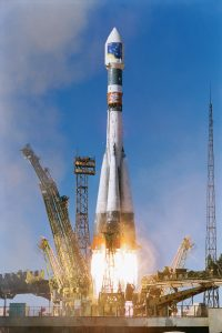 Soyuz-Fregat launch of first pair of Cluster satellites from Baikonur in Kazakhstan, 15 July 2000. Credit: ESA/Starsem